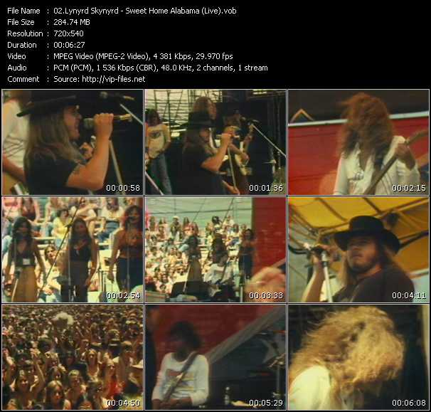 Lynyrd Skynyrd video screenshot