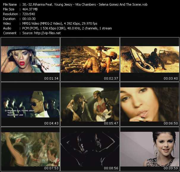 Rihanna Feat. Young Jeezy - Vita Chambers - Selena Gomez And The Scene video screenshot