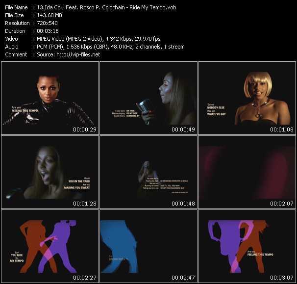 Ida Corr Feat. Rosco P. Coldchain video screenshot