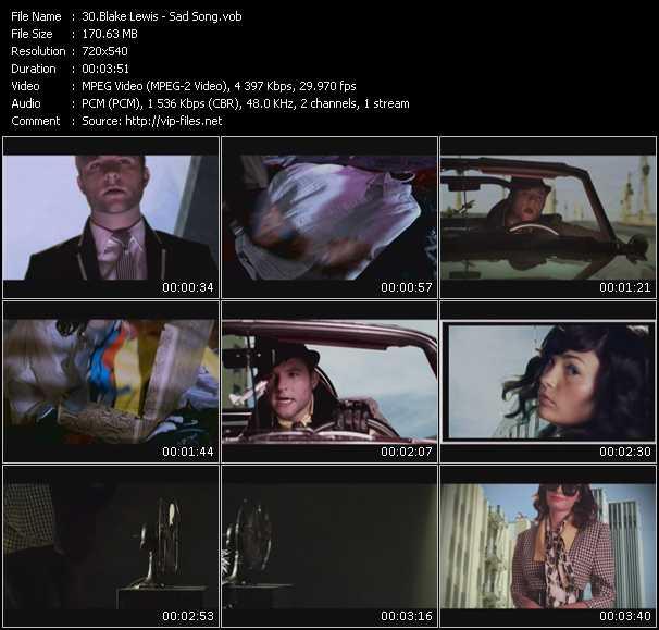 Blake Lewis video screenshot