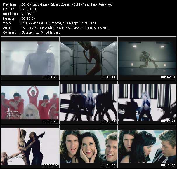 Lady Gaga - Britney Spears - 3oh!3 Feat. Katy Perry video screenshot