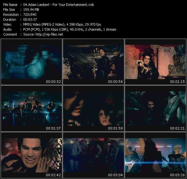Adam Lambert video screenshot