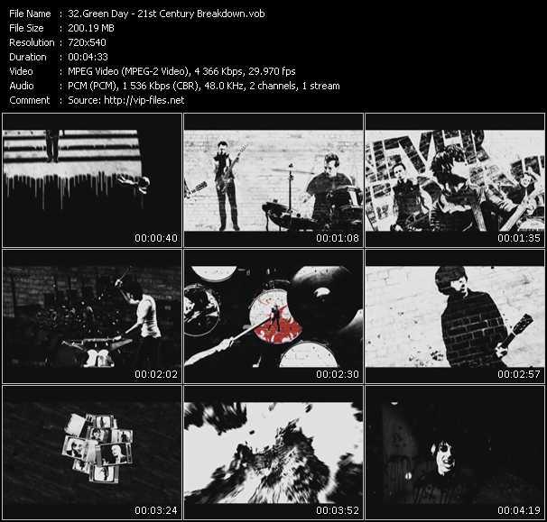 video 21st Century Breakdown screen