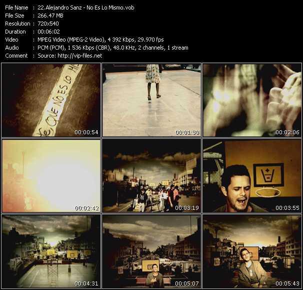 Alejandro Sanz video screenshot