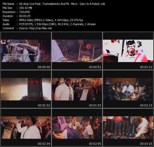 Amp Live Feat. Trackademicks And Mr. Micro video screenshot