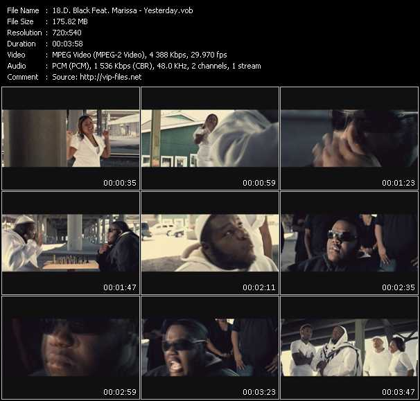 D. Black Feat. Marissa video screenshot