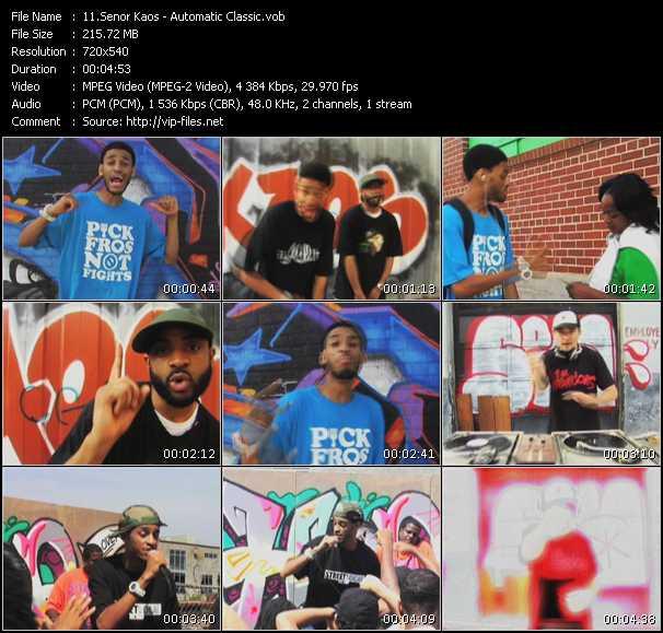 Senor Kaos video screenshot