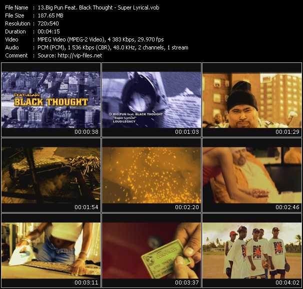 Big Pun (Big Punisher) Feat. Black Thought video screenshot