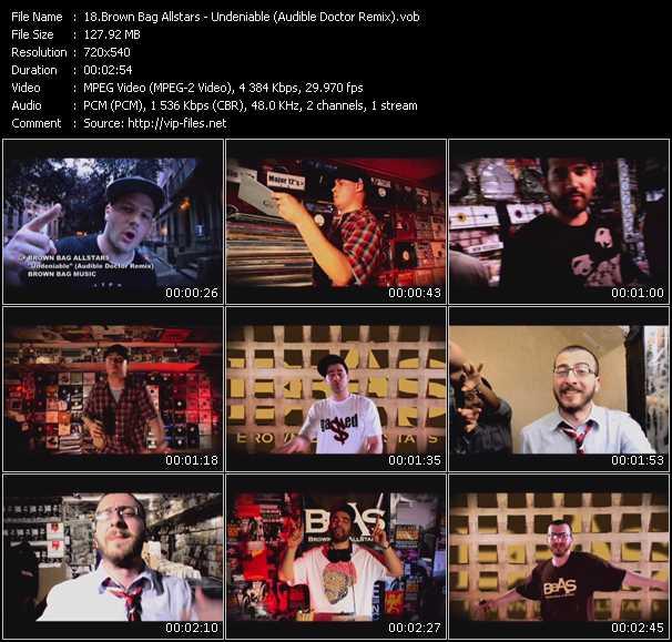 Brown Bag Allstars video screenshot
