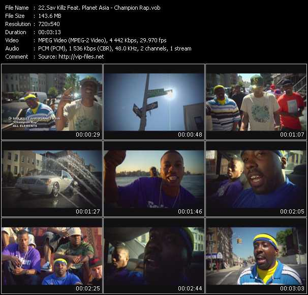 Sav Killz Feat. Planet Asia video screenshot