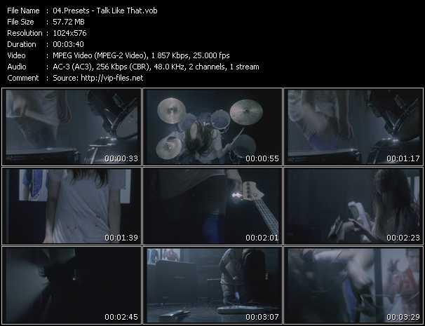 Presets video screenshot