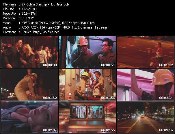Cobra Starship video screenshot