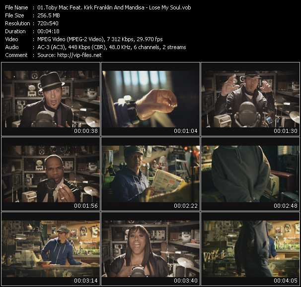 TobyMac Feat. Kirk Franklin And Mandisa video screenshot