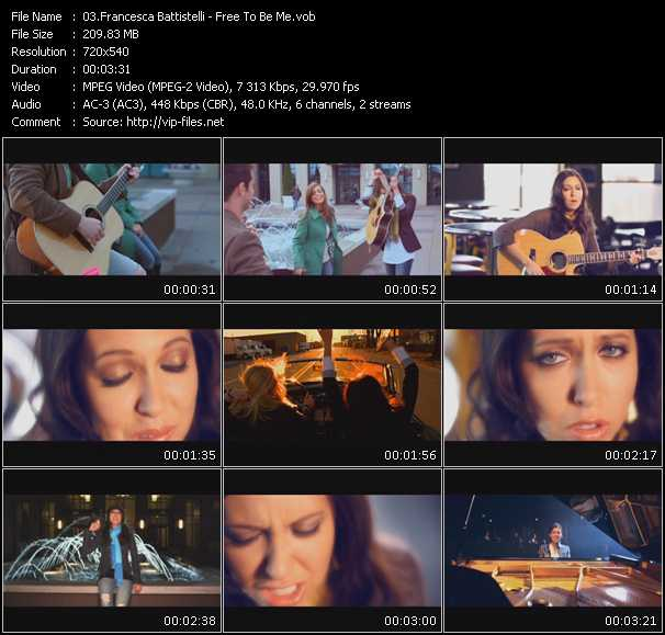 Francesca Battistelli video screenshot