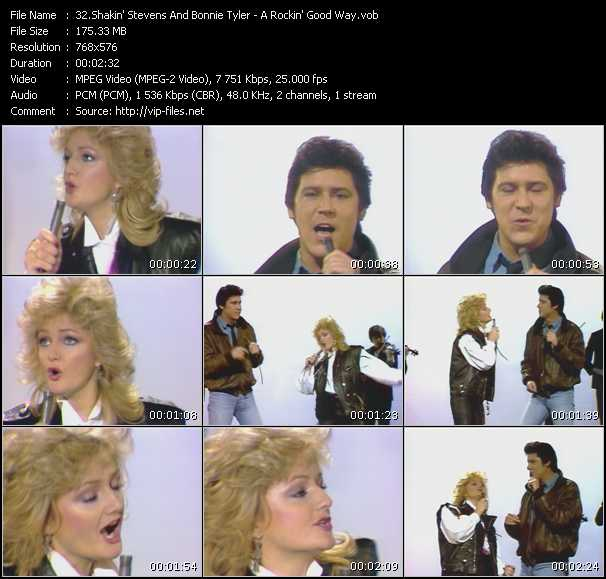 Shakin' Stevens And Bonnie Tyler video screenshot