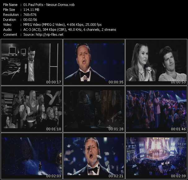 Paul Potts video screenshot