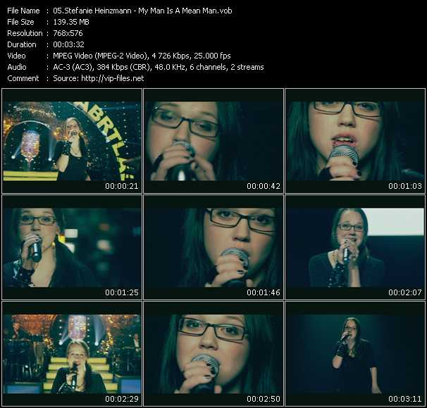 Stefanie Heinzmann video screenshot