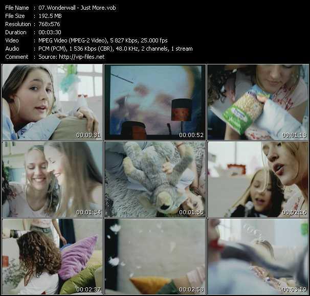 Wonderwall video screenshot