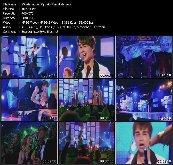 Alexander Rybak video screenshot