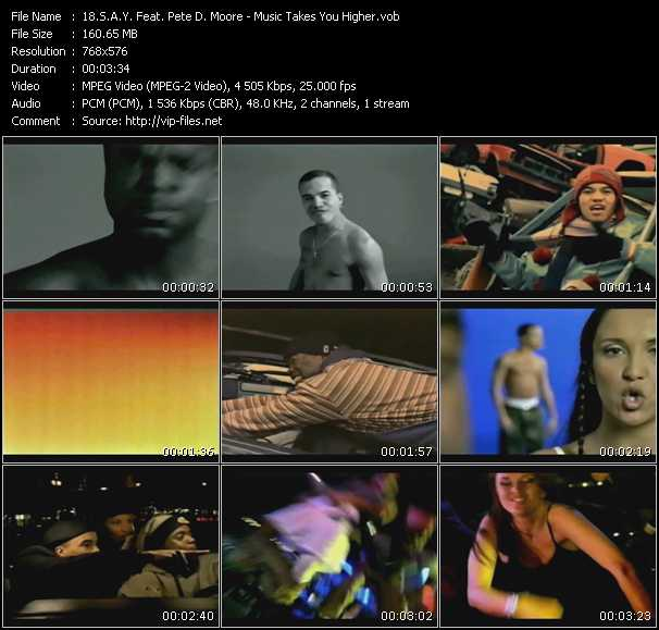 S.A.Y. Feat. Pete D. Moore video screenshot