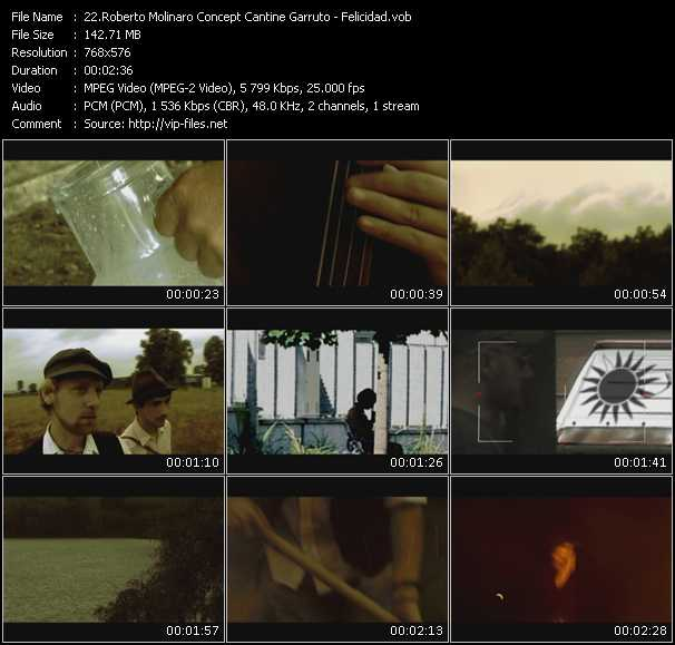 Roberto Molinaro Concept Cantine Garruto video screenshot