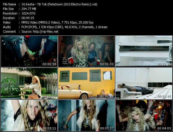 video Tik Tok (PeteDown 2010 Electro Remix) screen