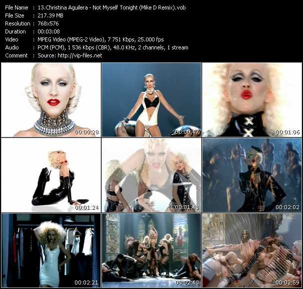 Christina Aguilera video screenshot
