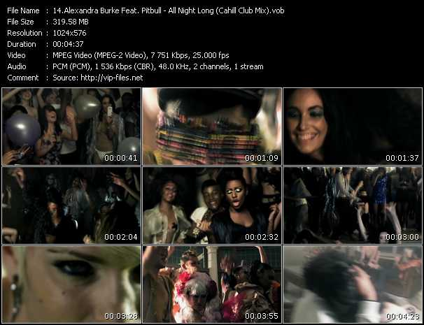 Alexandra Burke Feat. Pitbull video screenshot