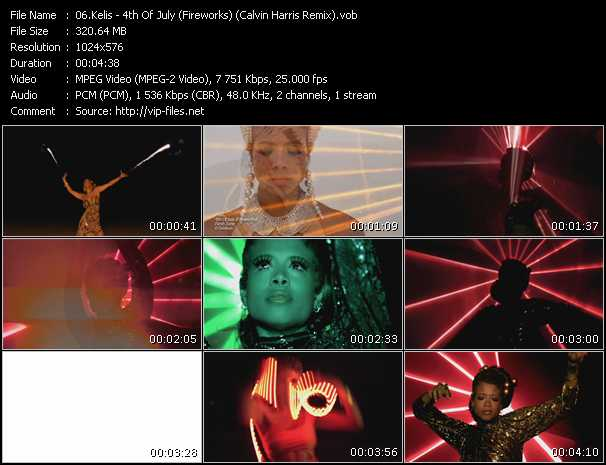 video 4th Of July (Fireworks) (Calvin Harris Remix) screen