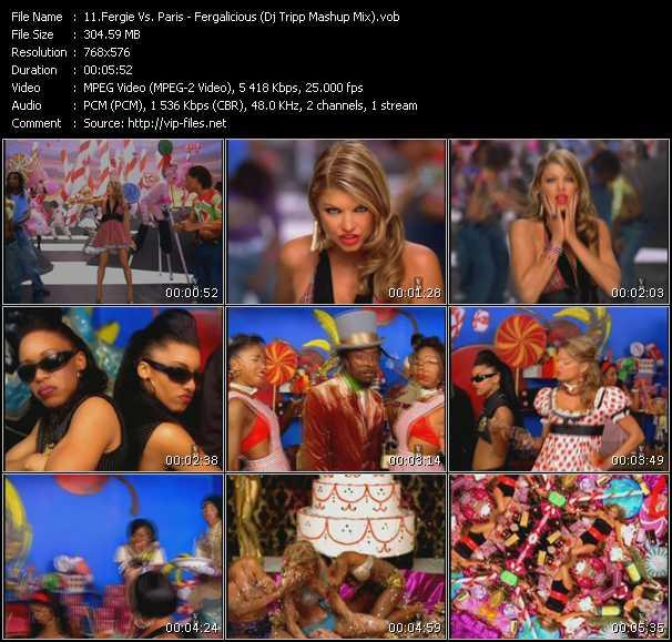 Fergie Vs. Paris video screenshot