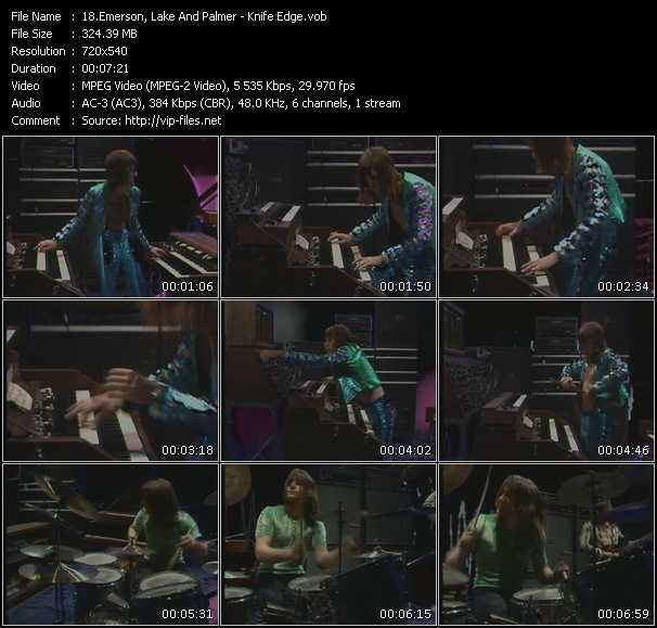 Emerson, Lake And Palmer (ELP) video screenshot