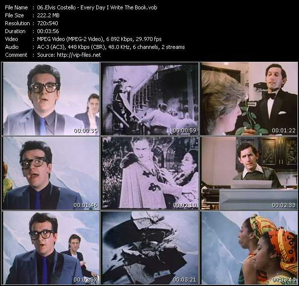 Elvis Costello video screenshot