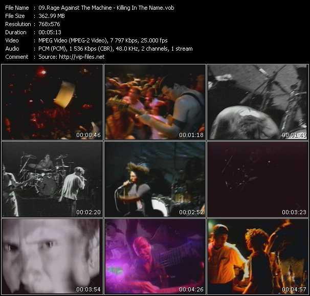 video Killing In The Name screen