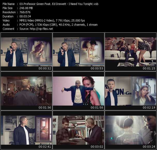 video I Need You Tonight screen