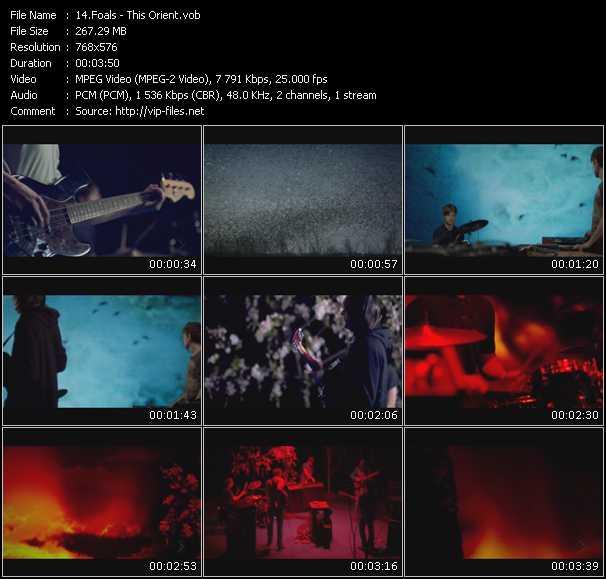 Foals video screenshot