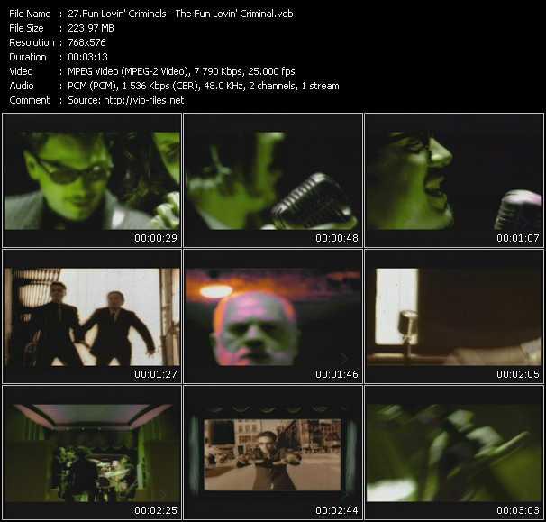Fun Lovin' Criminals video screenshot