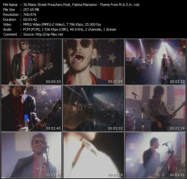 Manic Street Preachers Feat. Fatima Mansions video screenshot