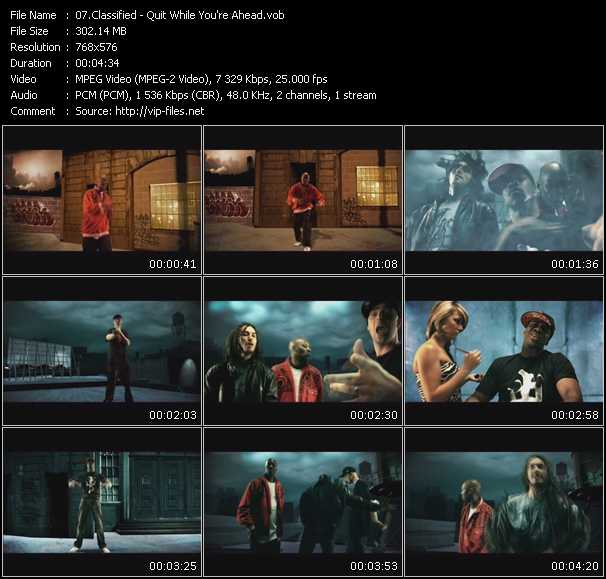 Classified video screenshot