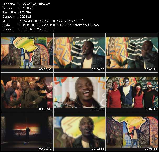 video Oh Africa screen