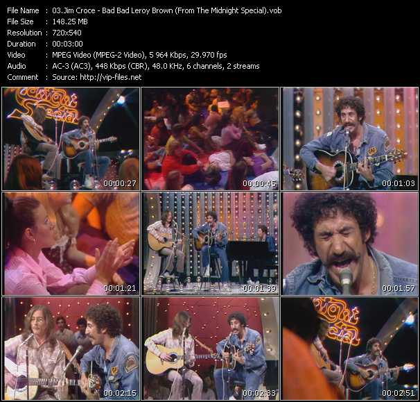 Jim Croce video screenshot