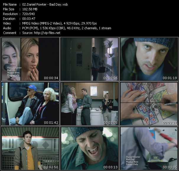 Daniel Powter video screenshot