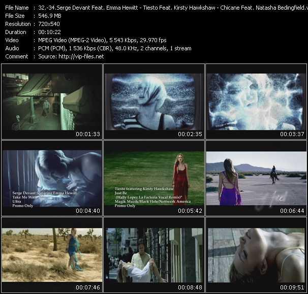 Serge Devant Feat. Emma Hewitt - Tiesto Feat. Kirsty Hawkshaw - Chicane Feat. Natasha Bedingfield video screenshot