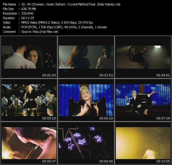 Chromeo - Gwen Stefani - Crystal Method Feat. Emily Haines video screenshot