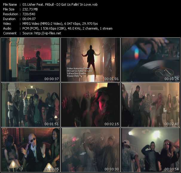Usher Feat. Pitbull video screenshot