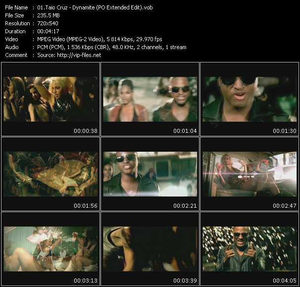 Taio Cruz video screenshot