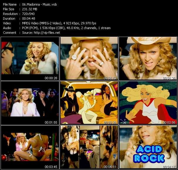 video Music screen