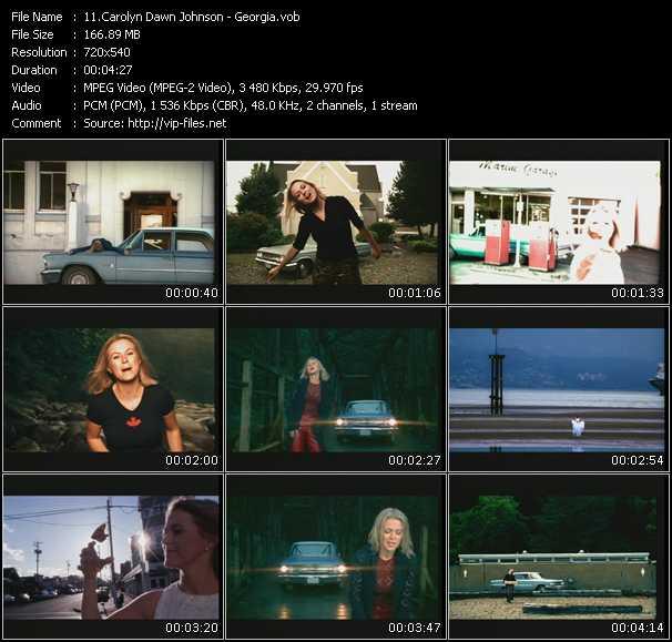 Carolyn Dawn Johnson video screenshot