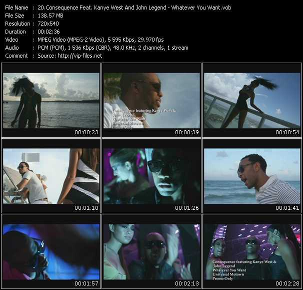 Consequence Feat. Kanye West And John Legend video screenshot