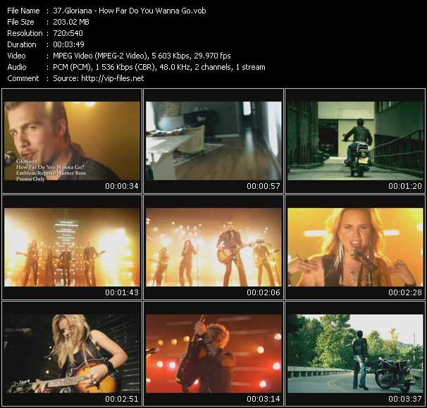 Gloriana video screenshot