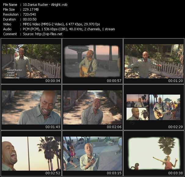 Darius Rucker video screenshot